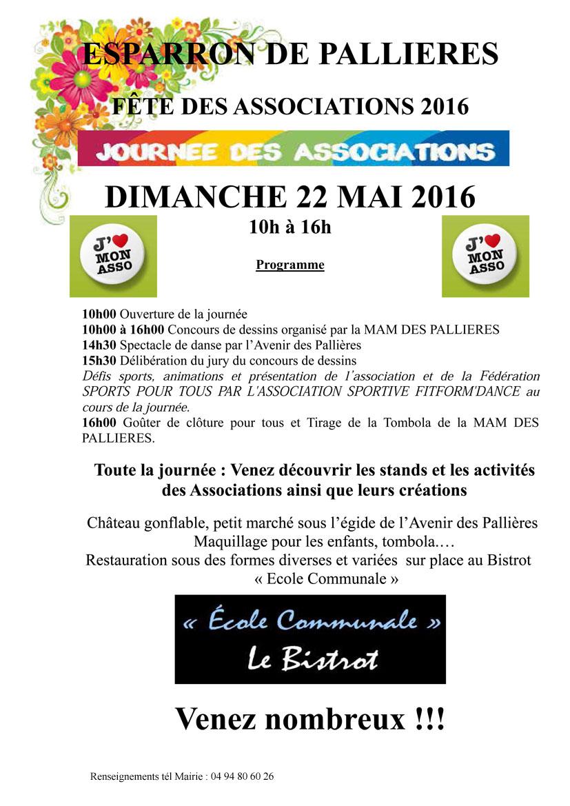 Fêtes des Associations Esaparron de Pallières le 22 mai 2016