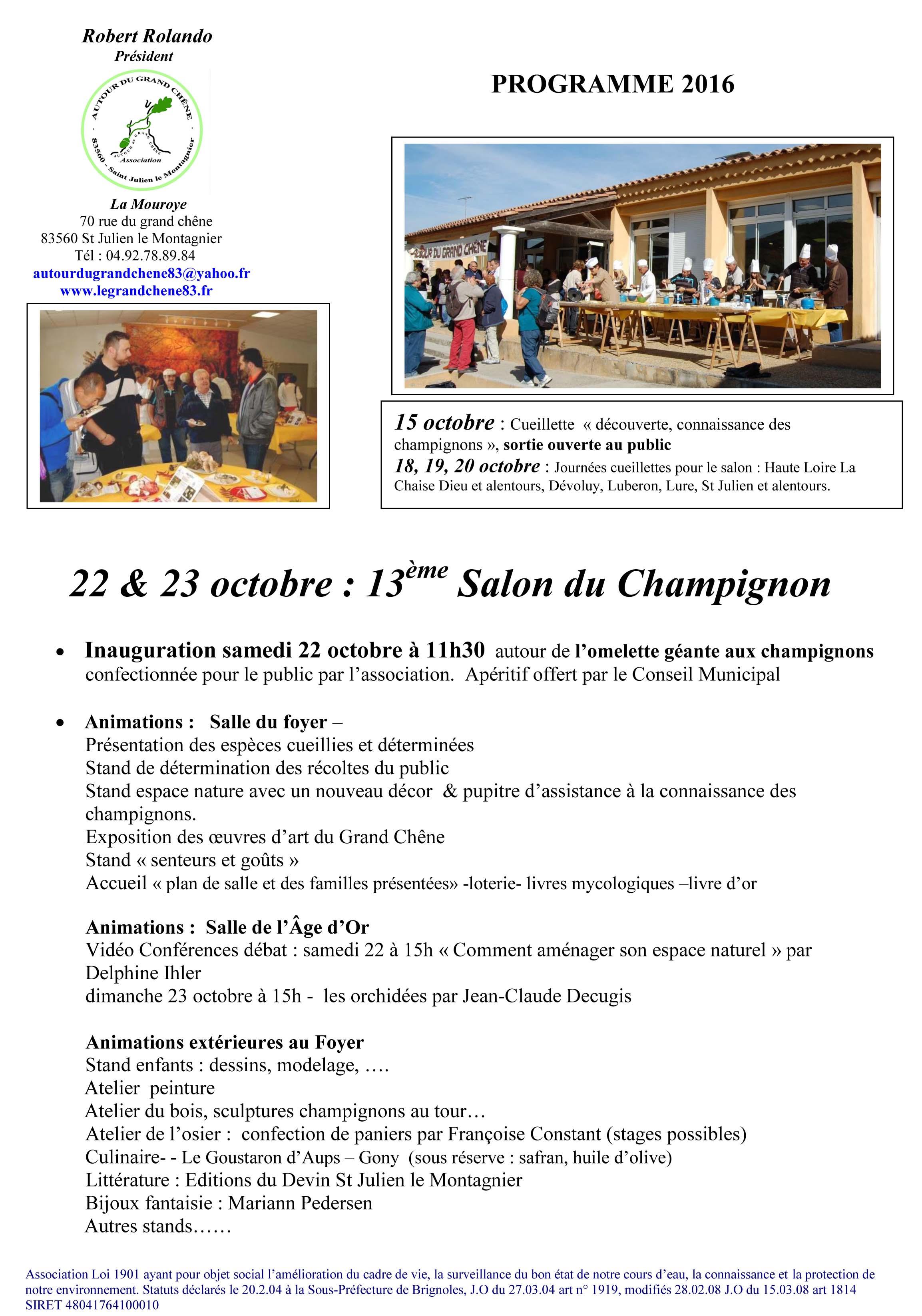 Programme Salon 2016